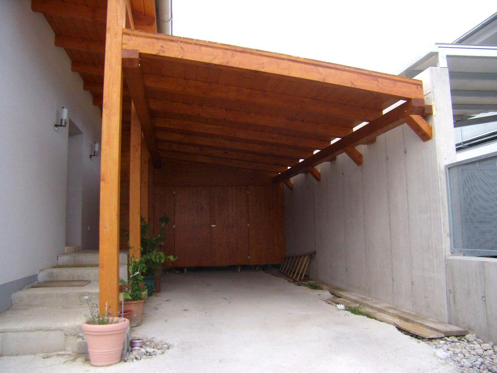 Mega carport mit gartenhaus wohnen holz